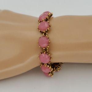 J. Crew Pink & Gold Bracelet